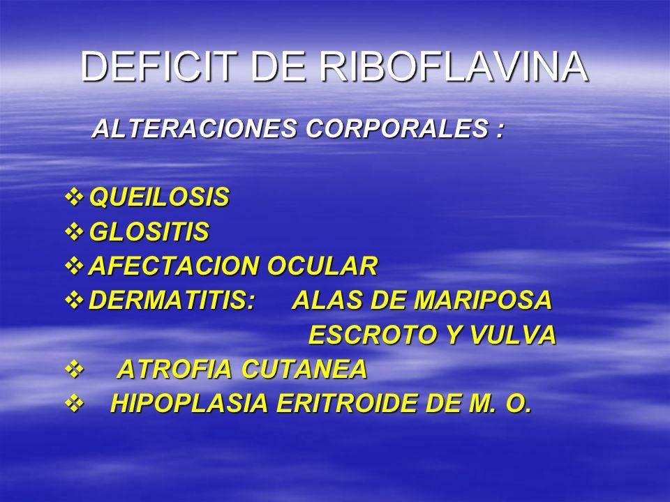 DEFICIT DE RIBOFLAVINA