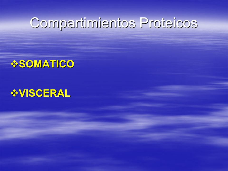 Compartimientos Proteicos