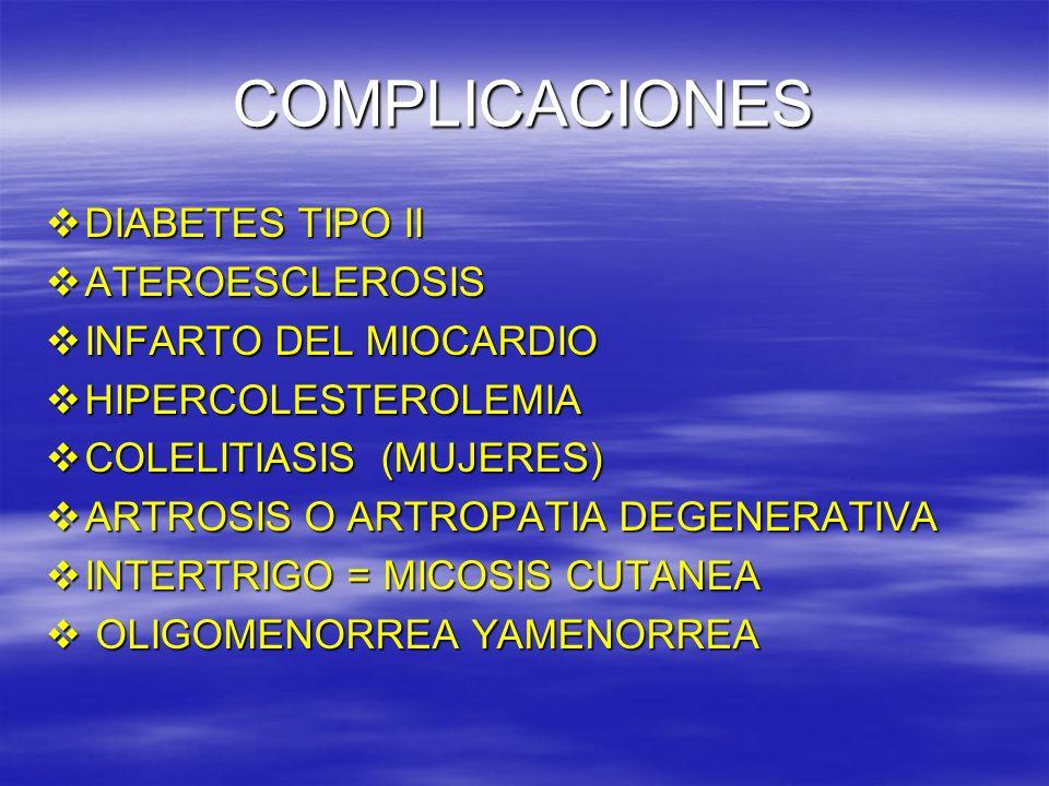 COMPLICACIONES DIABETES TIPO II ATEROESCLEROSIS INFARTO DEL MIOCARDIO
