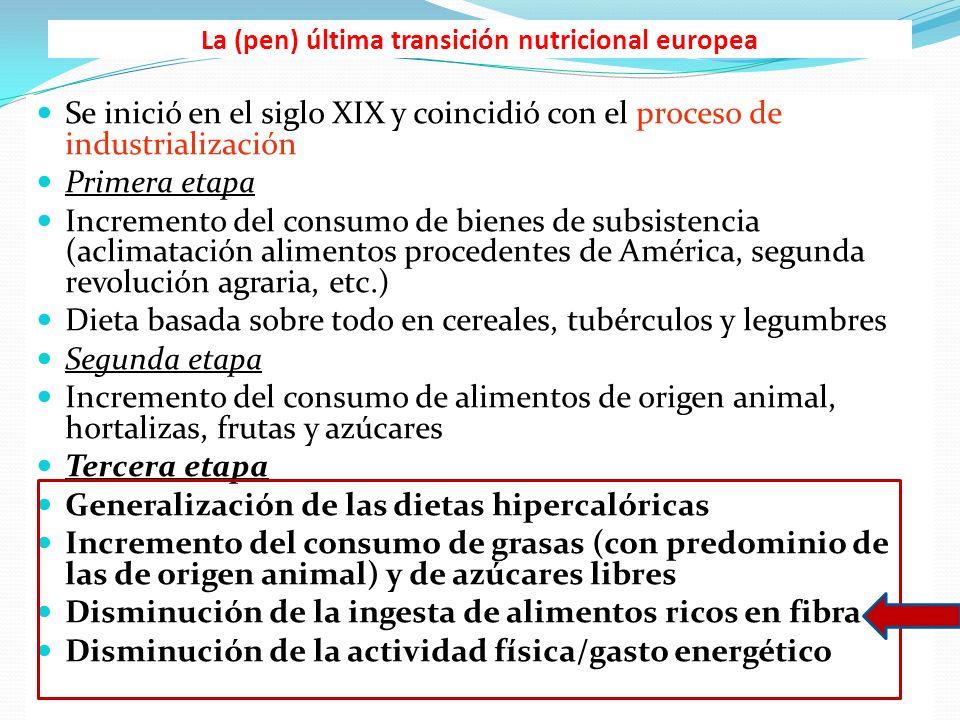 La (pen) última transición nutricional europea