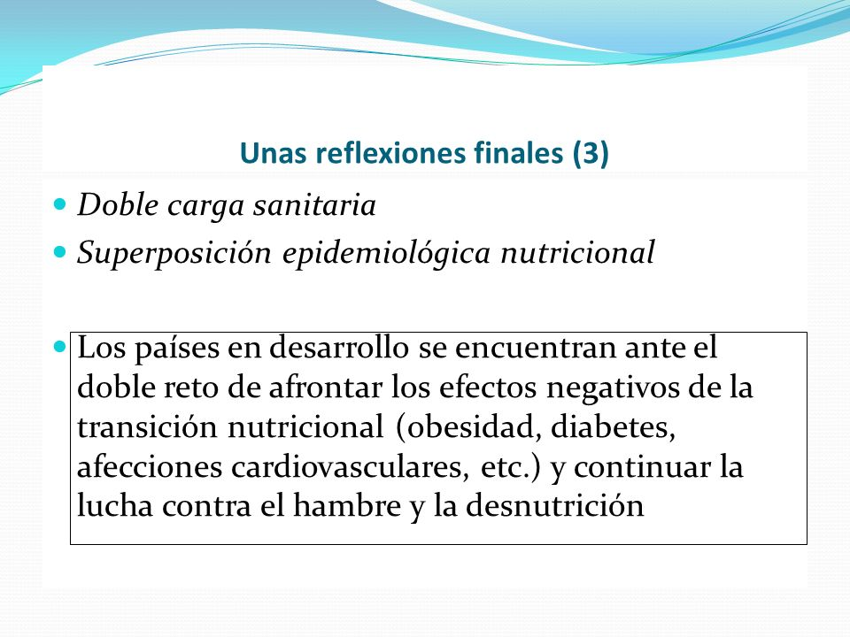 Unas reflexiones finales (3)