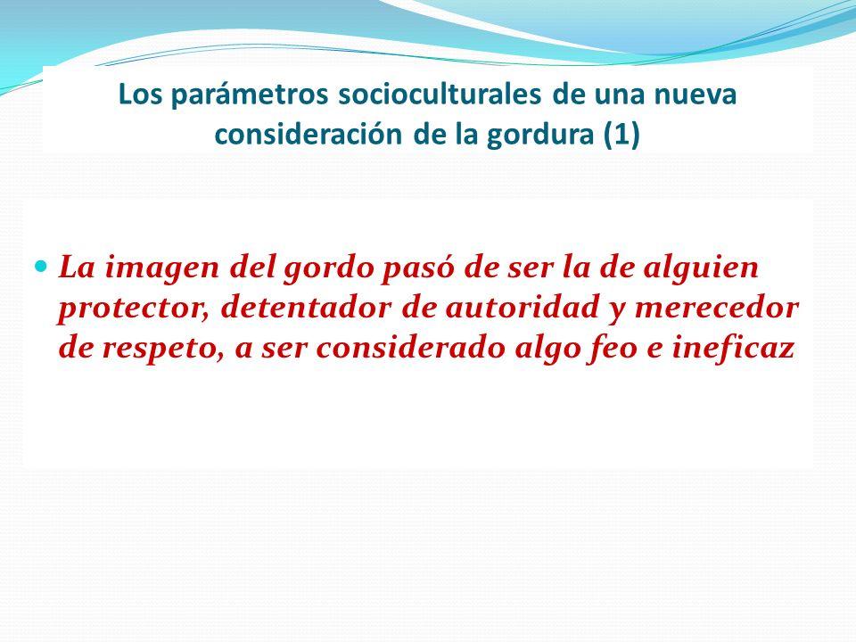 Los parámetros socioculturales de una nueva consideración de la gordura (1)