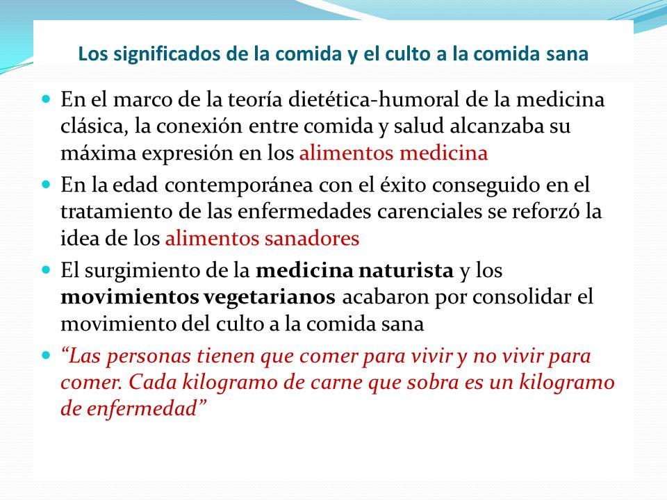 Los significados de la comida y el culto a la comida sana