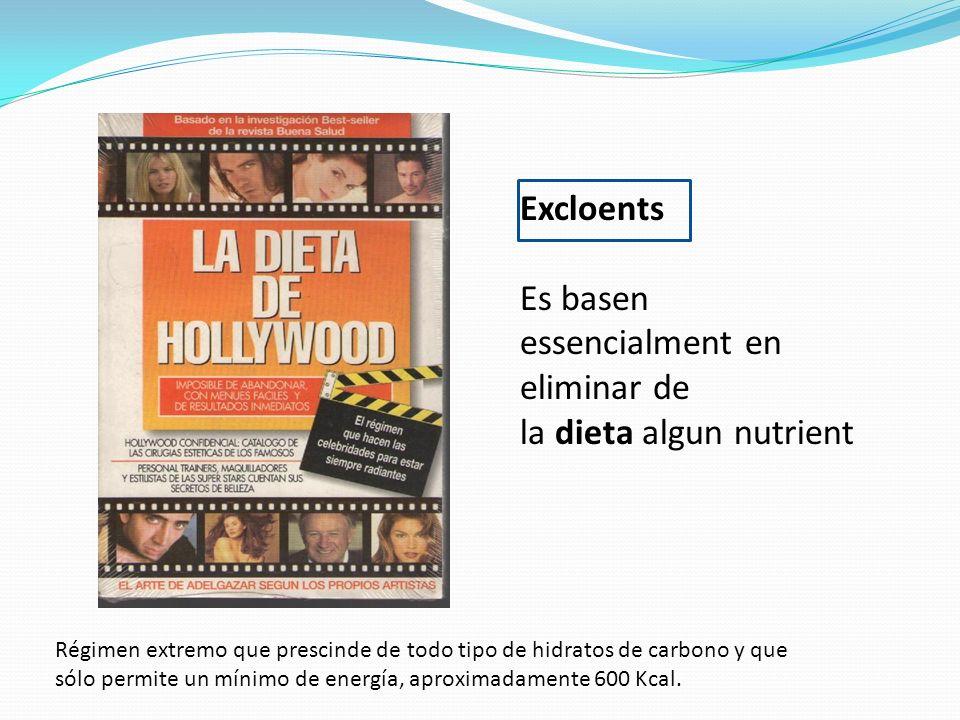 Es basen essencialment en eliminar de la dieta algun nutrient