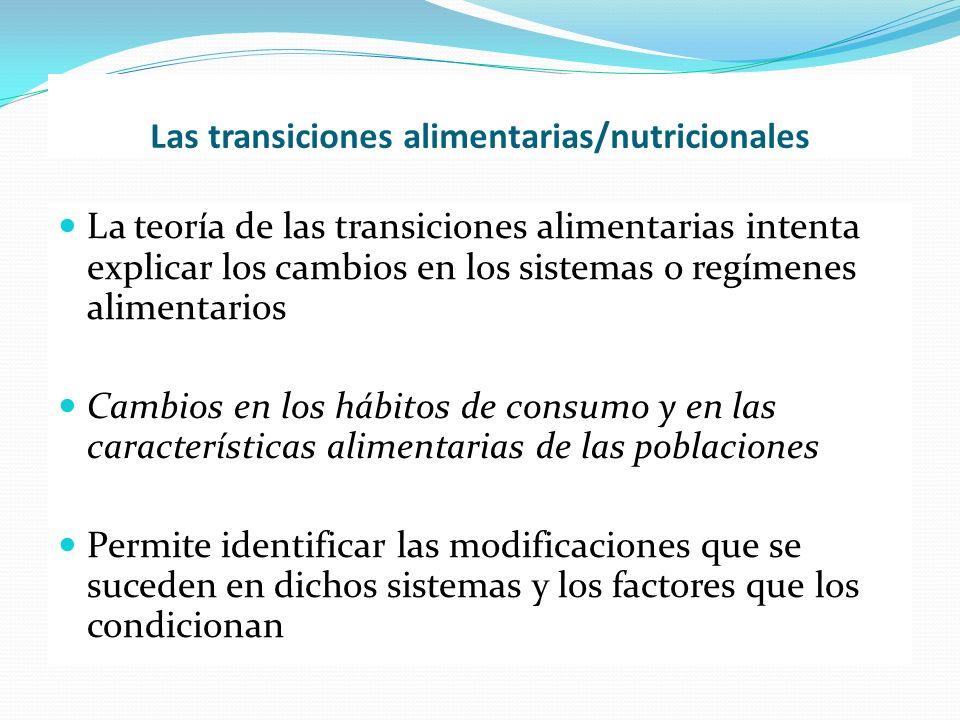 Las transiciones alimentarias/nutricionales