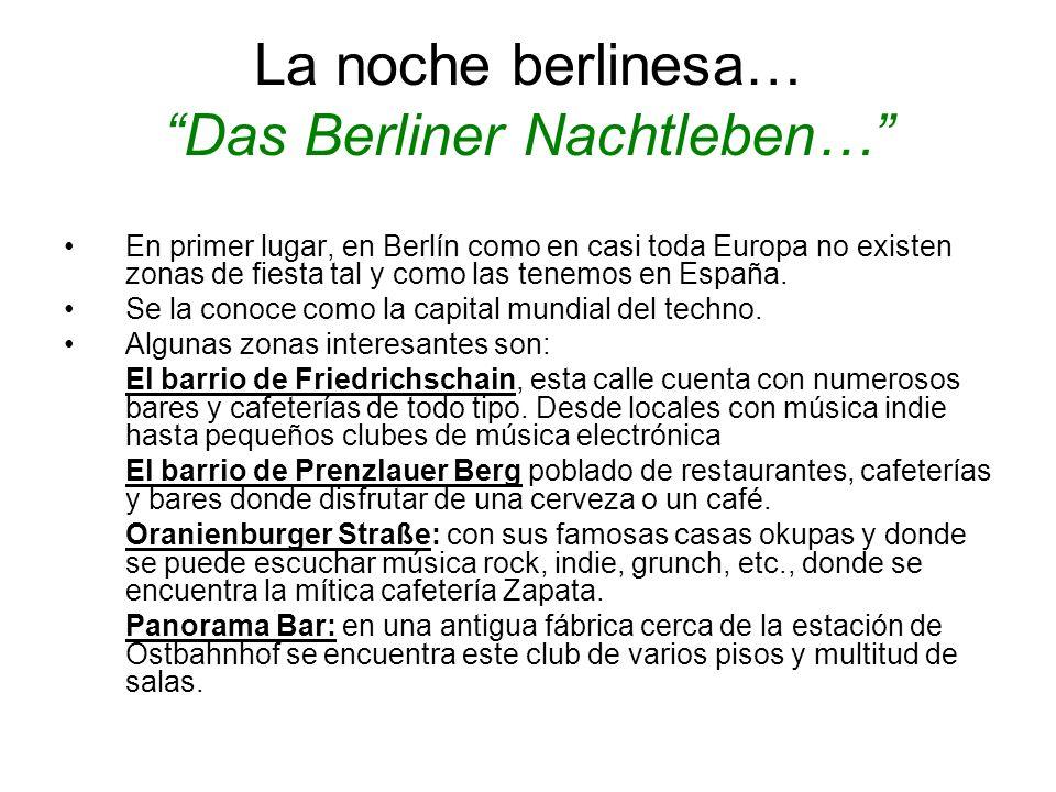 La noche berlinesa… Das Berliner Nachtleben…