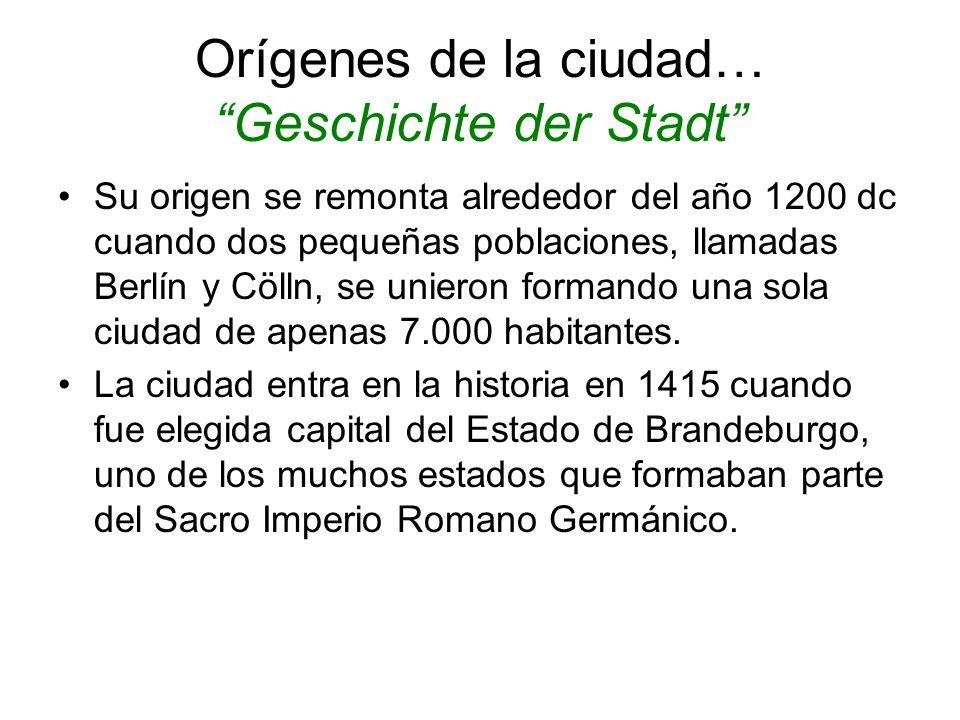 Orígenes de la ciudad… Geschichte der Stadt