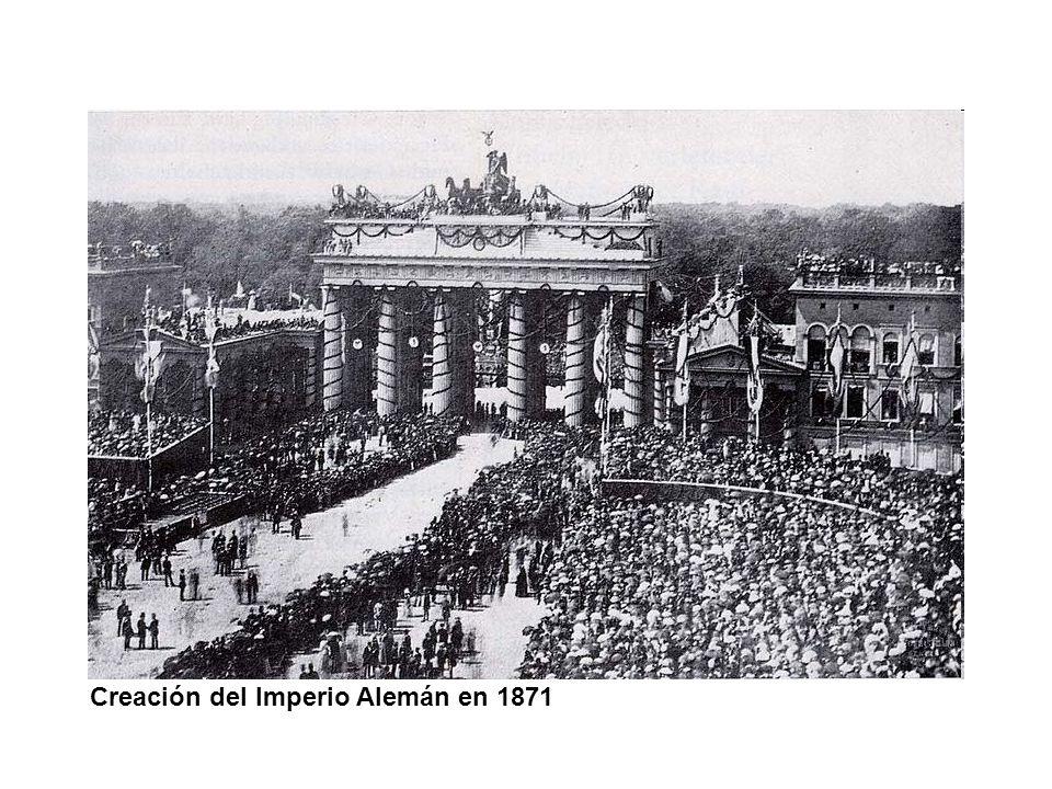 Creación del Imperio Alemán en 1871