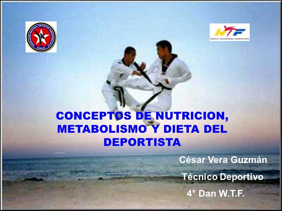 CONCEPTOS DE NUTRICION, METABOLISMO Y DIETA DEL DEPORTISTA