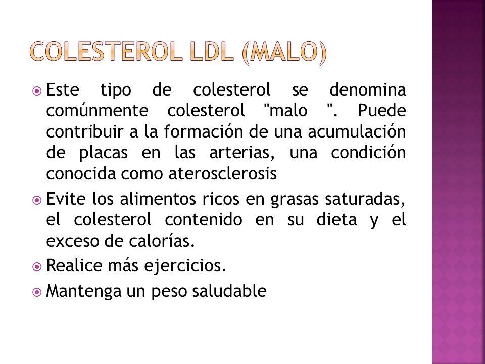 Colesterol LDL (Malo)