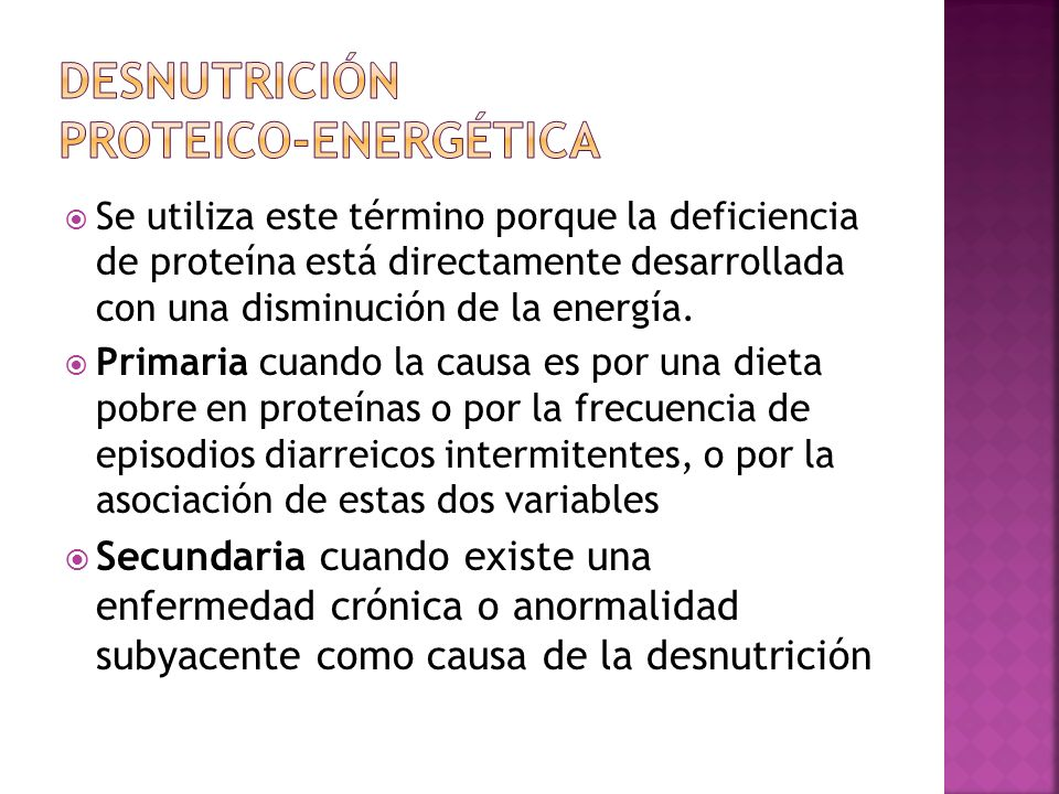 Desnutrición Proteico-energética