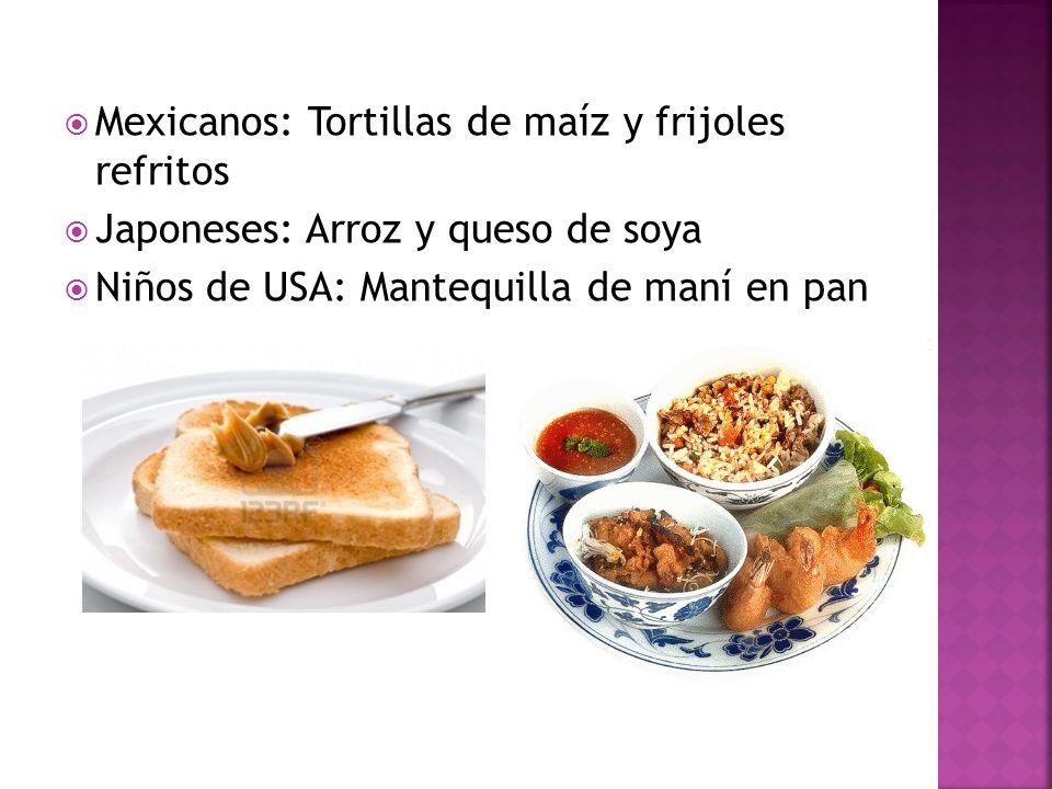 Mexicanos: Tortillas de maíz y frijoles refritos