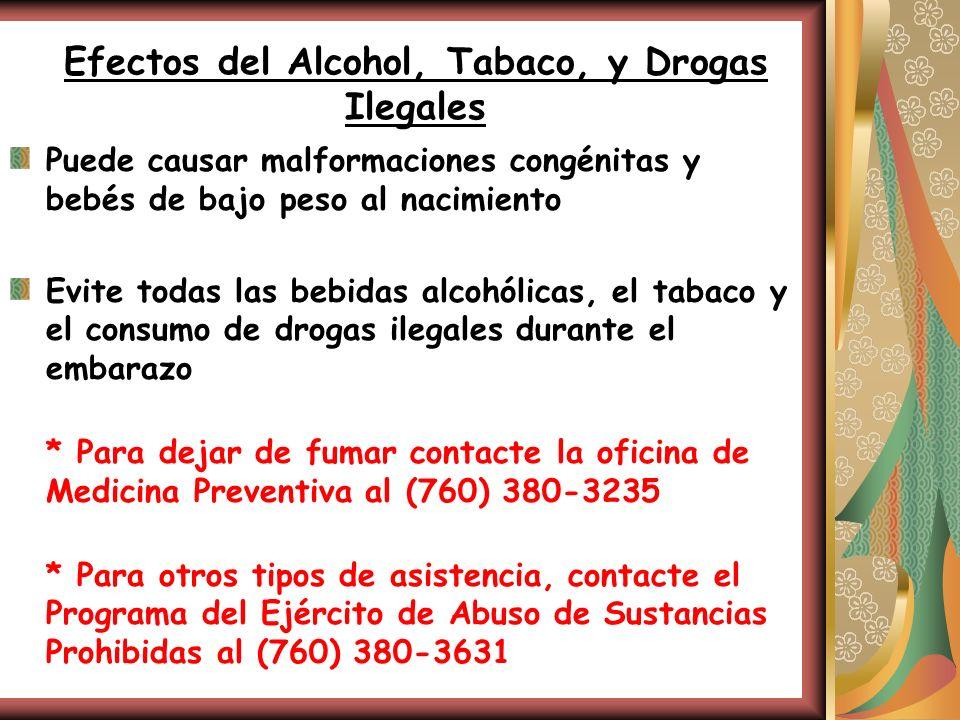 Efectos del Alcohol, Tabaco, y Drogas Ilegales
