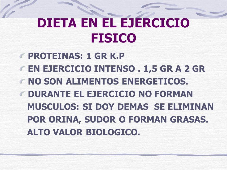 DIETA EN EL EJERCICIO FISICO