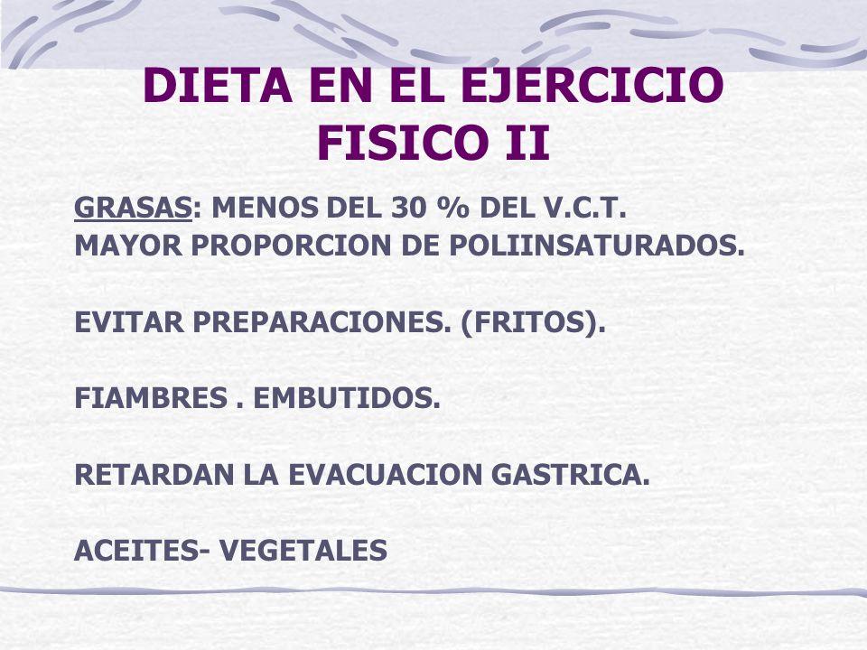 DIETA EN EL EJERCICIO FISICO II