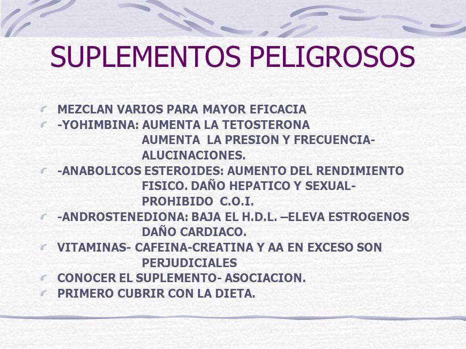 SUPLEMENTOS PELIGROSOS