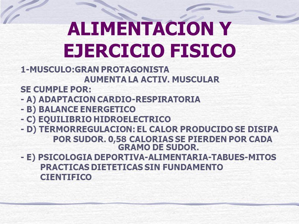 ALIMENTACION Y EJERCICIO FISICO