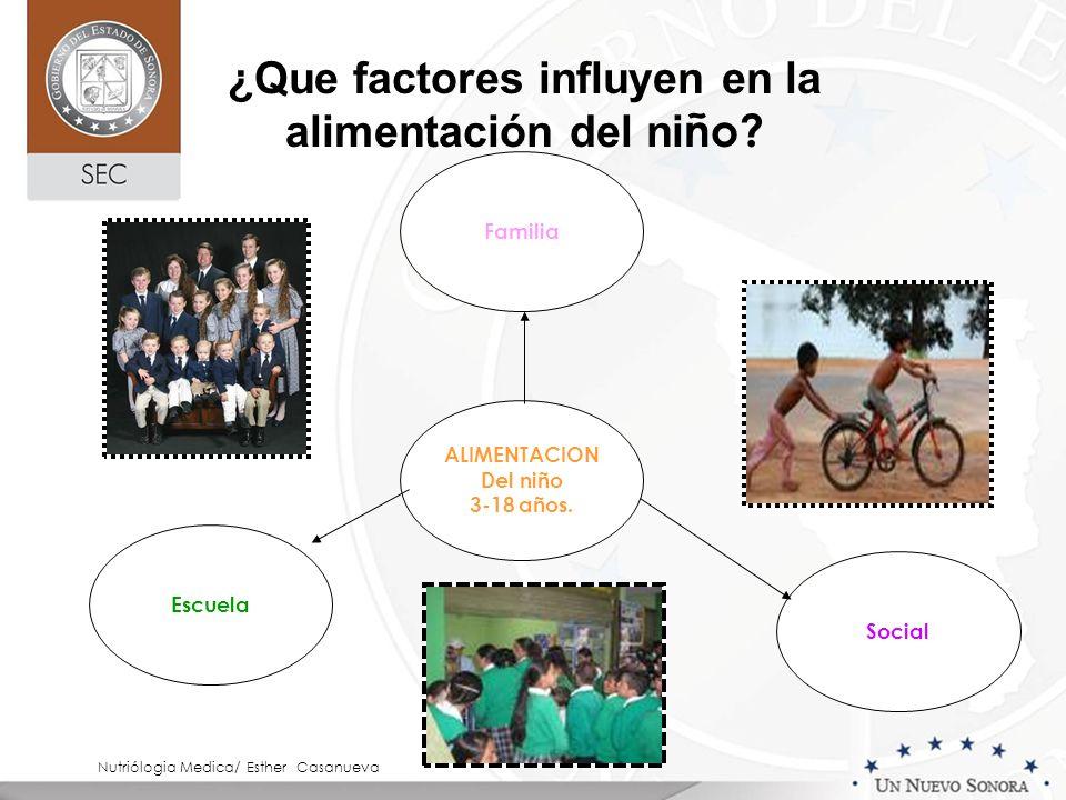¿Que factores influyen en la alimentación del niño