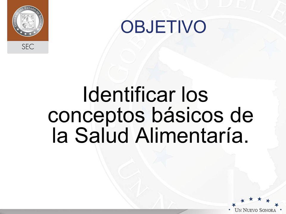 Identificar los conceptos básicos de la Salud Alimentaría.