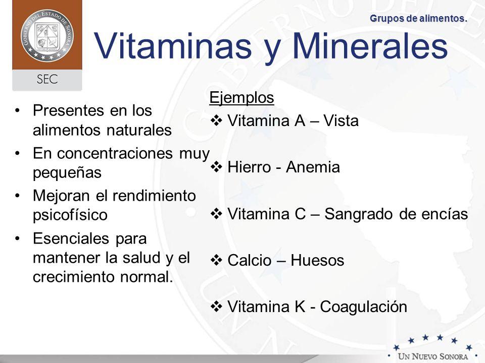 Vitaminas y Minerales Ejemplos Vitamina A – Vista