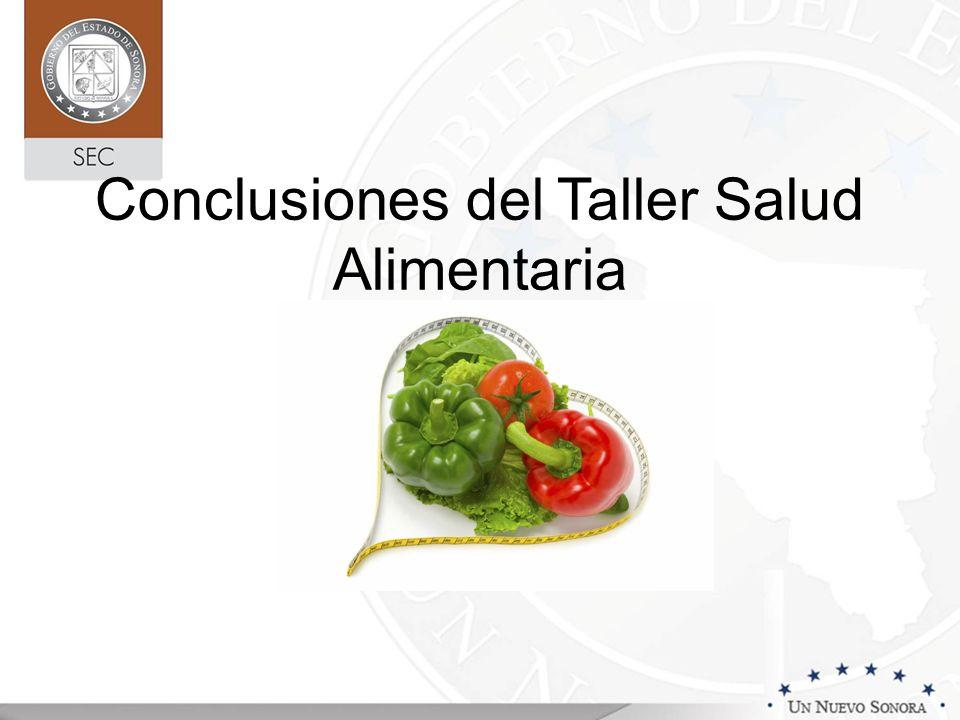 Conclusiones del Taller Salud Alimentaria