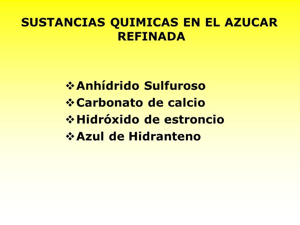 SUSTANCIAS QUIMICAS EN EL AZUCAR