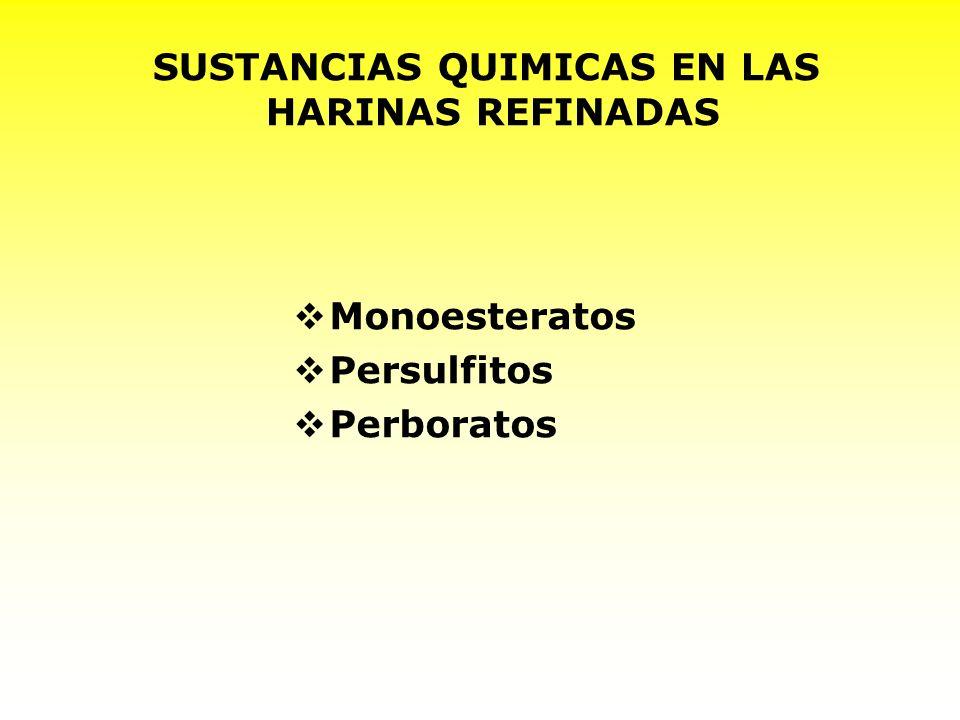 SUSTANCIAS QUIMICAS EN LAS