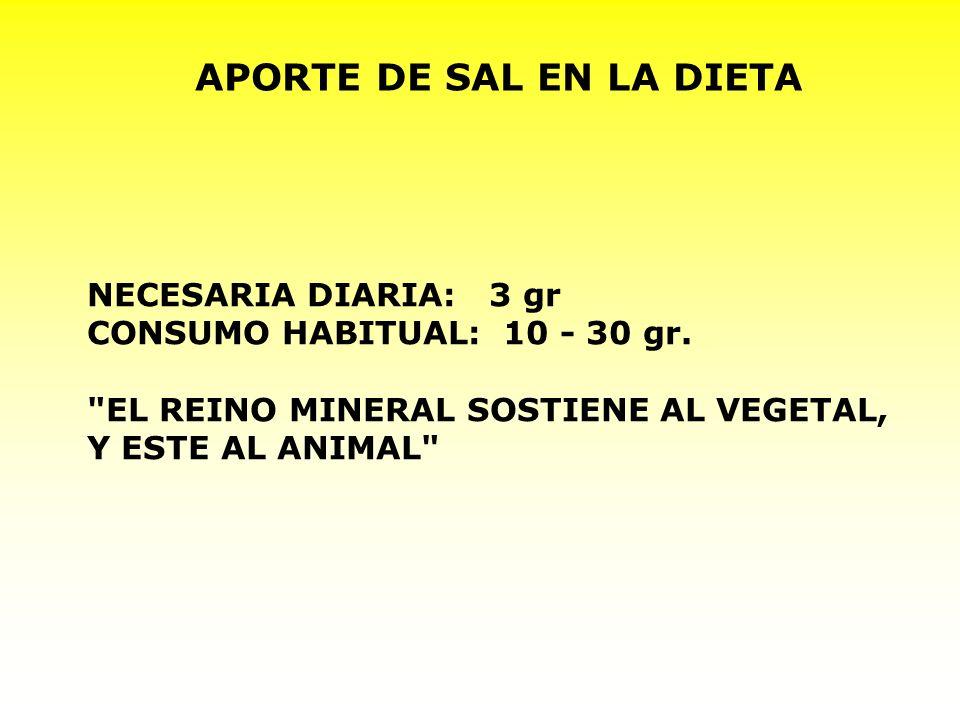 APORTE DE SAL EN LA DIETA