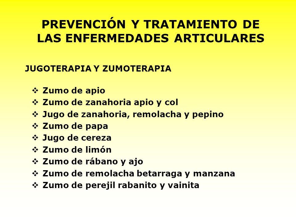 PREVENCIÓN Y TRATAMIENTO DE LAS ENFERMEDADES ARTICULARES
