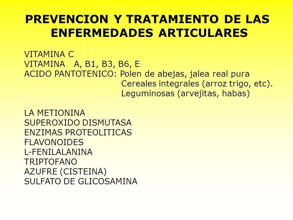 PREVENCION Y TRATAMIENTO DE LAS ENFERMEDADES ARTICULARES