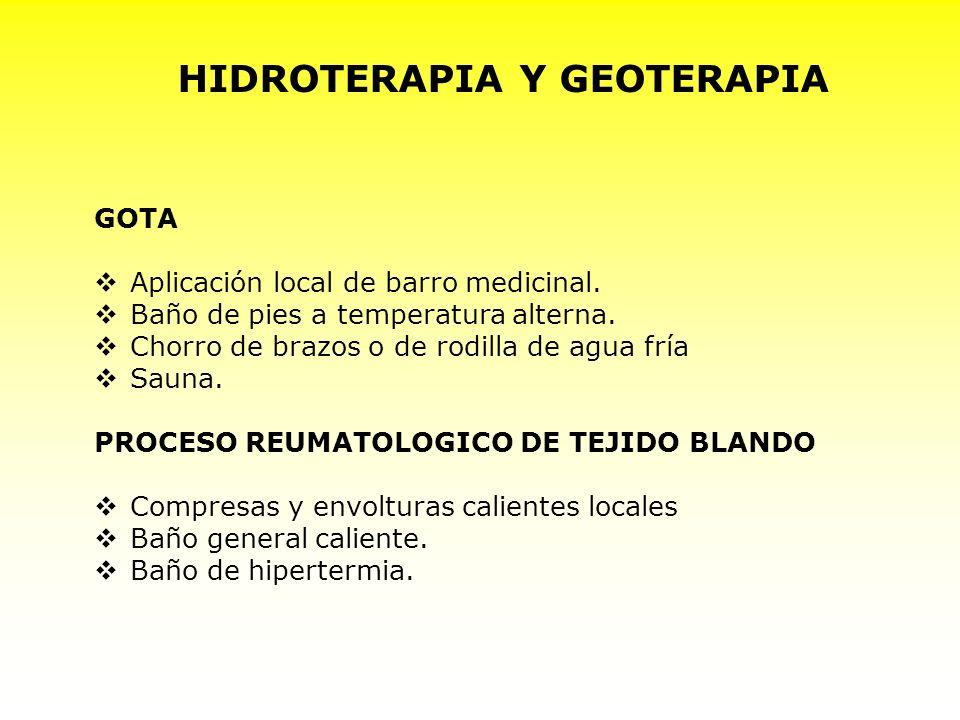 HIDROTERAPIA Y GEOTERAPIA