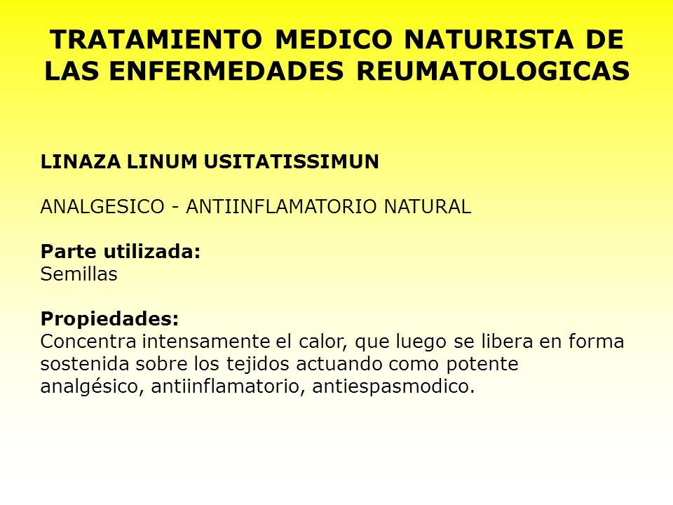 TRATAMIENTO MEDICO NATURISTA DE LAS ENFERMEDADES REUMATOLOGICAS