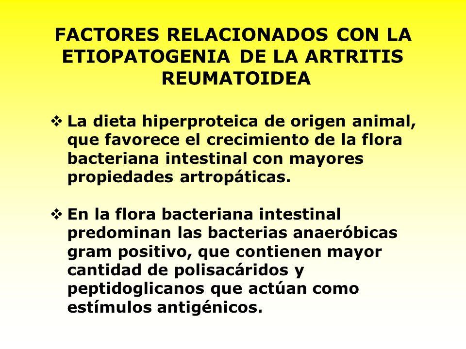 FACTORES RELACIONADOS CON LA ETIOPATOGENIA DE LA ARTRITIS