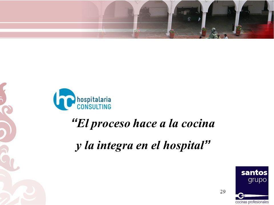 El proceso hace a la cocina y la integra en el hospital
