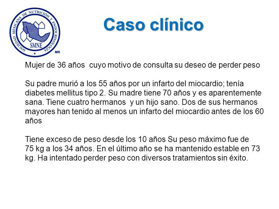 Caso clínico Mujer de 36 años cuyo motivo de consulta su deseo de perder peso.