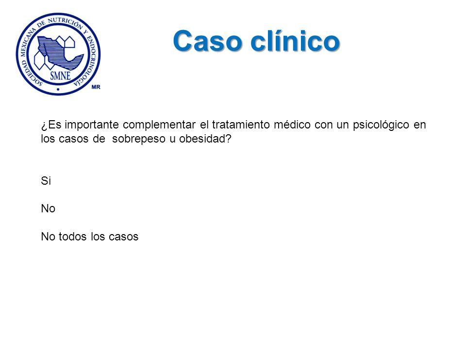 Caso clínico ¿Es importante complementar el tratamiento médico con un psicológico en los casos de sobrepeso u obesidad