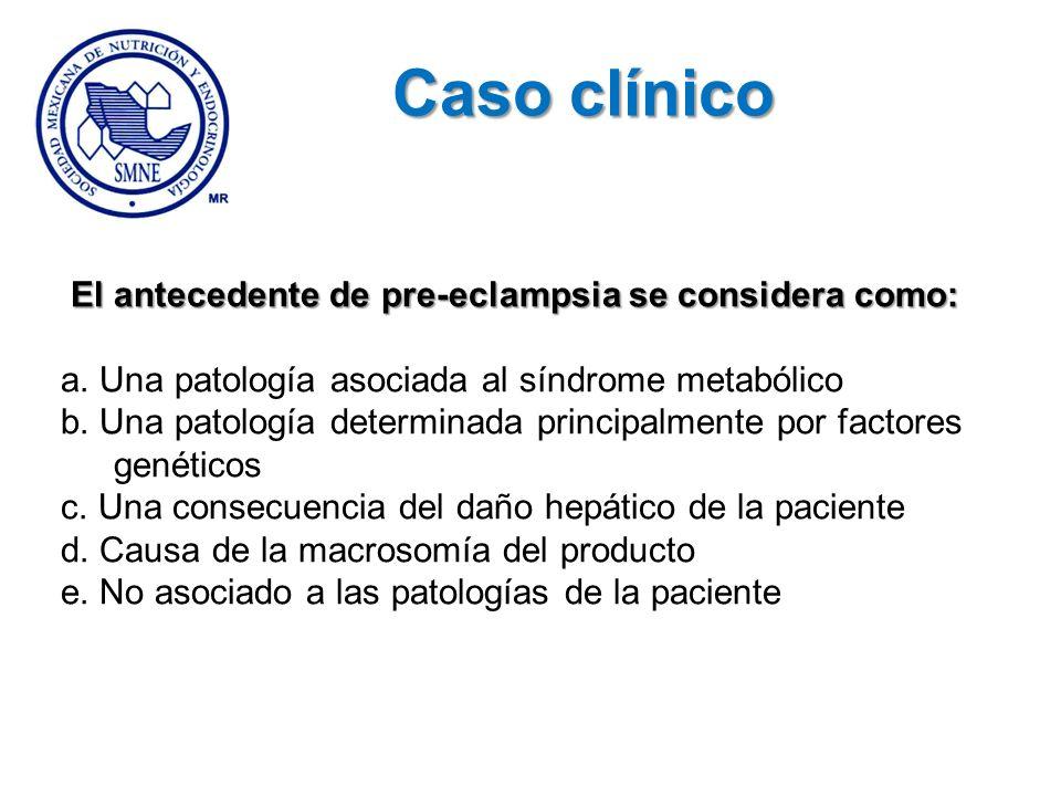 Caso clínico El antecedente de pre-eclampsia se considera como: