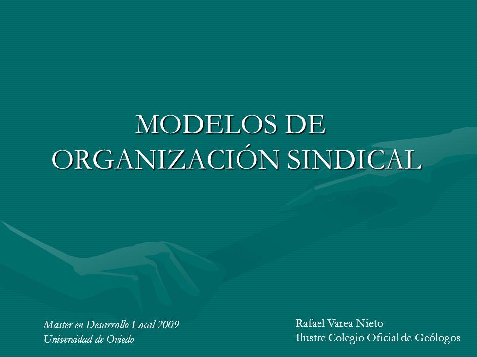 MODELOS DE ORGANIZACIÓN SINDICAL