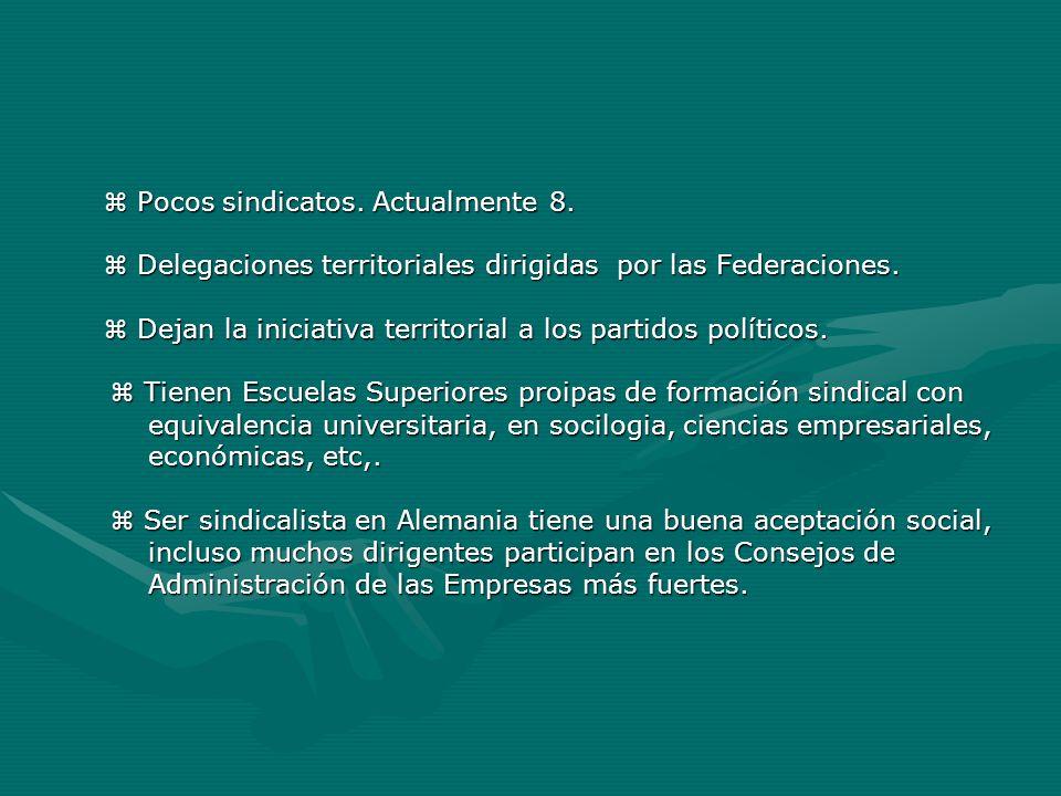  Delegaciones territoriales dirigidas por las Federaciones.