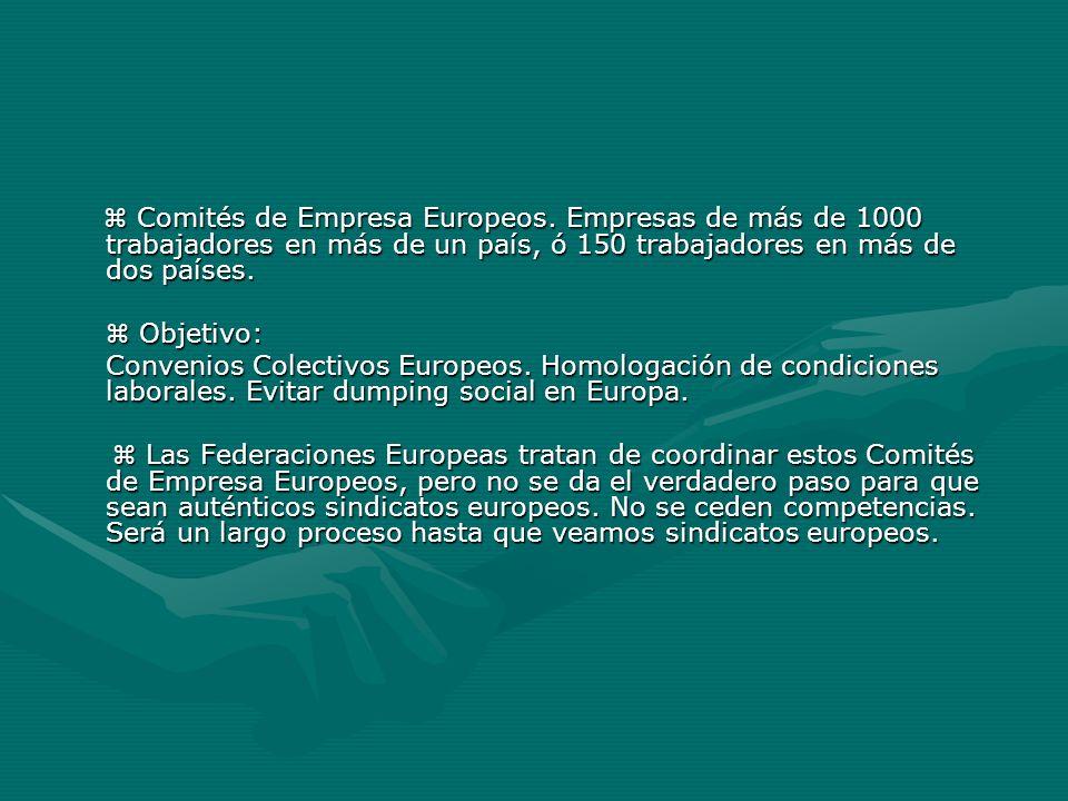 Comités de Empresa Europeos