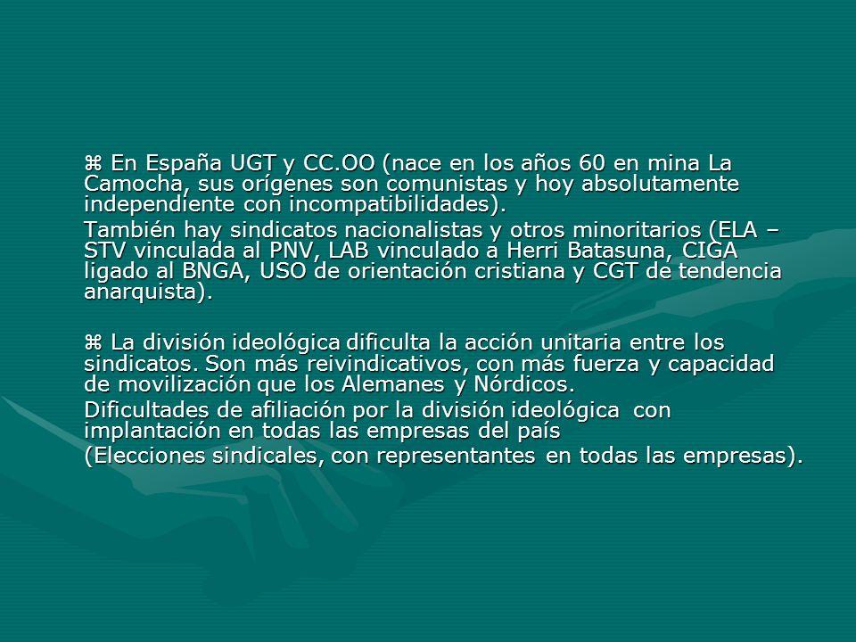 (Elecciones sindicales, con representantes en todas las empresas).