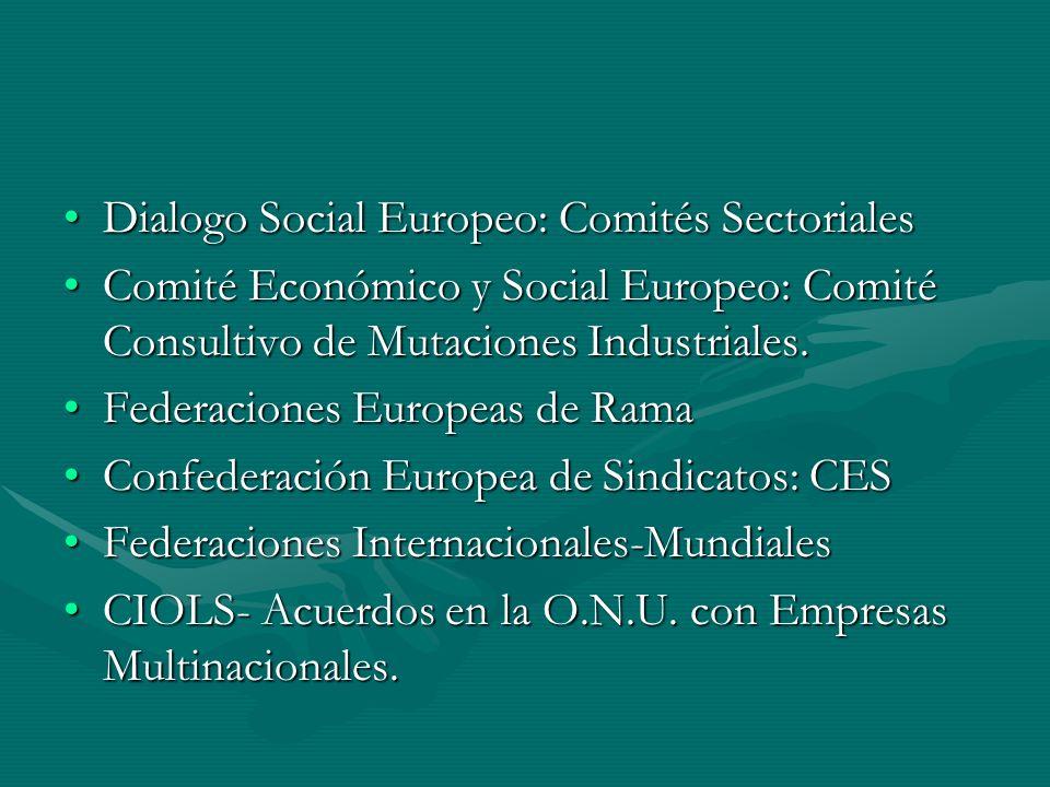 Dialogo Social Europeo: Comités Sectoriales