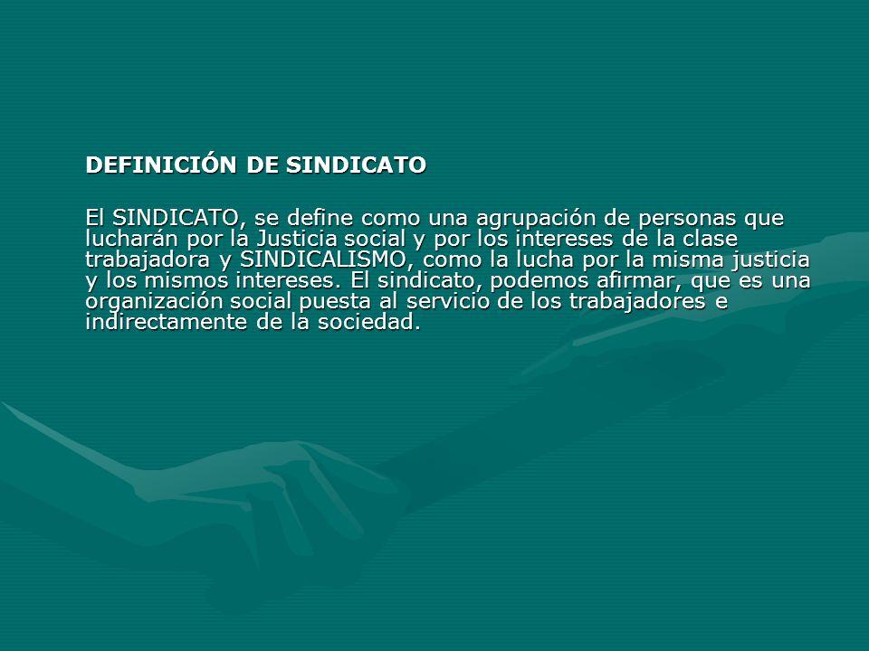 DEFINICIÓN DE SINDICATO