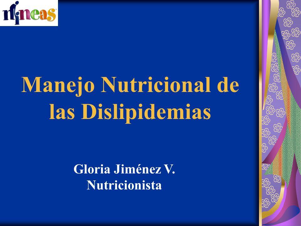 Manejo Nutricional de las Dislipidemias