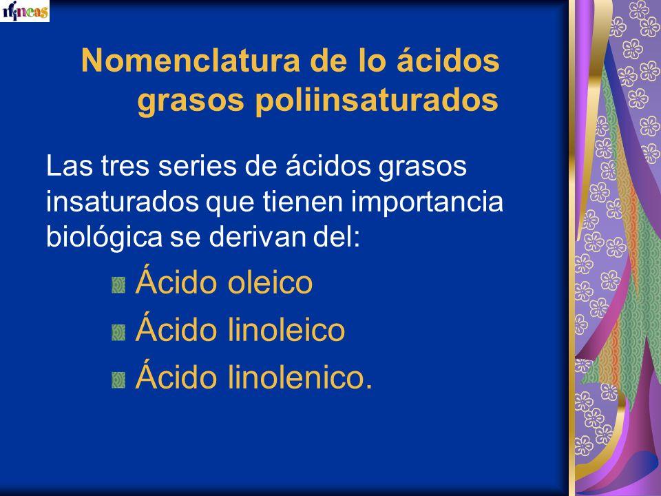Nomenclatura de lo ácidos grasos poliinsaturados