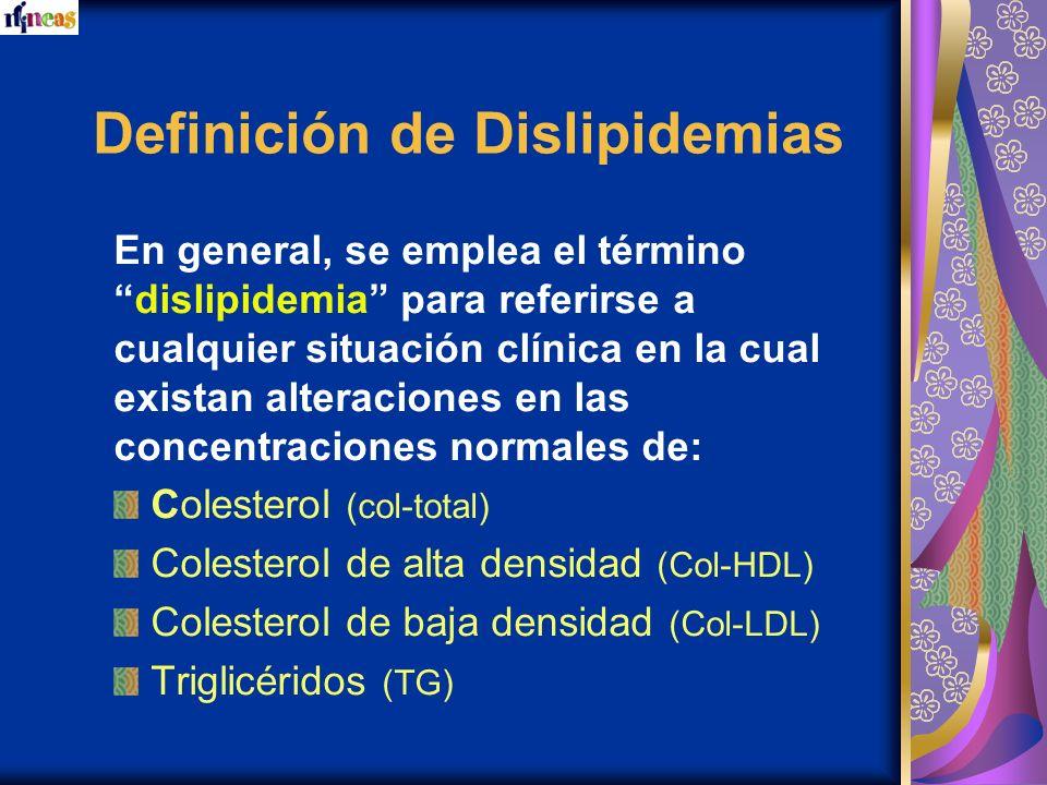 Definición de Dislipidemias