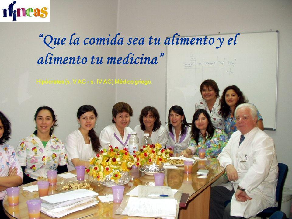 Que la comida sea tu alimento y el alimento tu medicina Hipócrates (s.