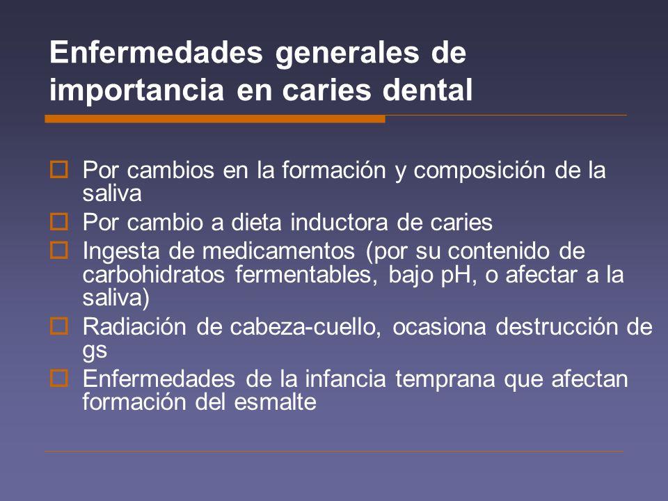 Enfermedades generales de importancia en caries dental