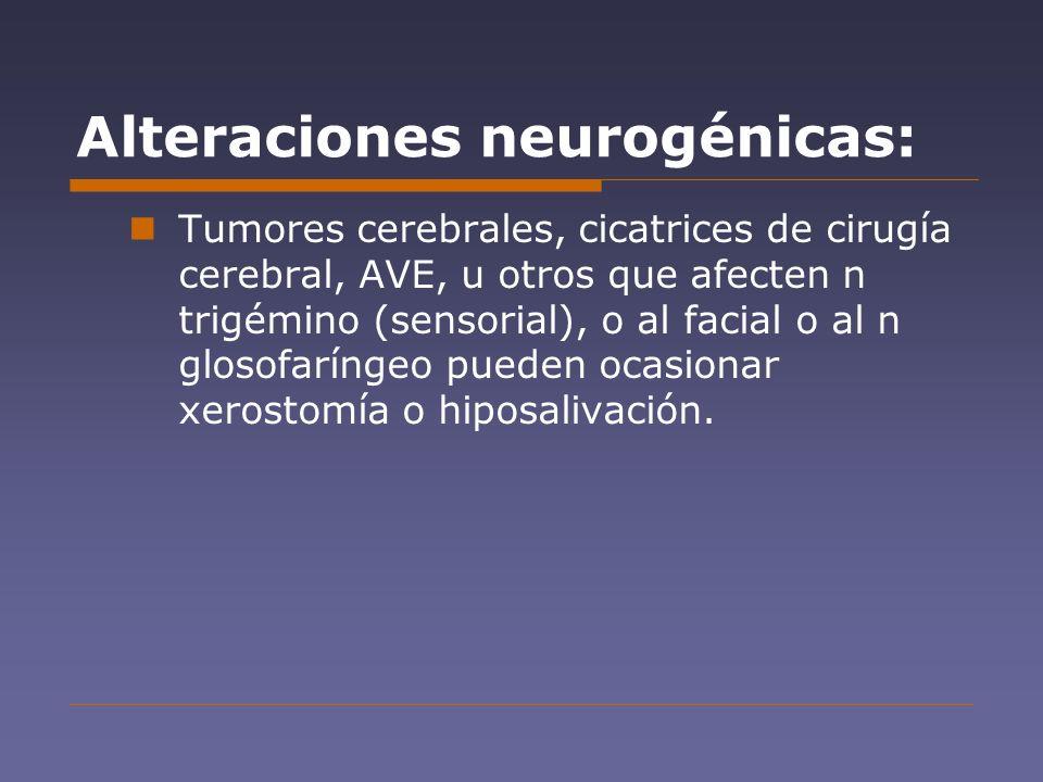Alteraciones neurogénicas: