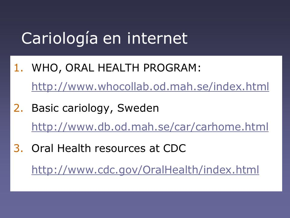 Cariología en internet